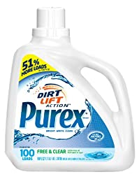 Dial 10024200050204 Purex Free and Clear Liquid Laundry Detergent, Fragrance and Dye Free, 150 oz. (100 loads), 4 pack