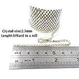 Honbay 10 Yard Crystal Rhinestone Close Chain