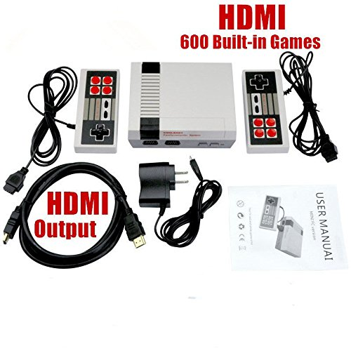 Price comparison product image HD Video Game Entertainment System HDMI Output Family Classic Mini TV Game Console Double Handle With Built in 600 Games