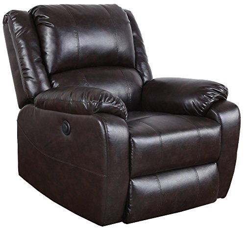 Bonded Leather Power Electric Recliner Living Room Chair Review