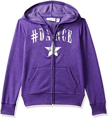(The Children's Place Big Girls Graphic Hoodies, Full Violet L (10/12) )