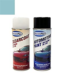 ExpressPaint Aerosol Mini Cooper All Automotive Touch-up Paint - Electric Blue Metallic Clearcoat 870 - All Inclusive Package