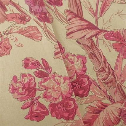 Amazon Com Beige Pink Braemore Tropical Print Home Decorating