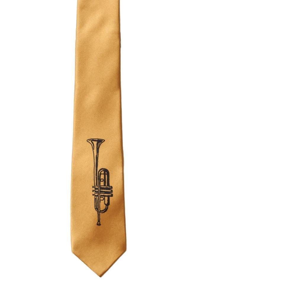 Trumpet Skinny Tie - Gold
