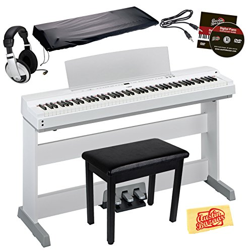 Yamaha P-255 Digital Piano Bundle with Yamaha L-255 Furnitur