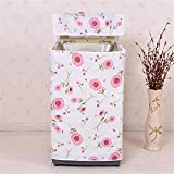 Autumn Water Print Top Load Washer Washing Machine Cover Washer/Dryer Cover (Pink)