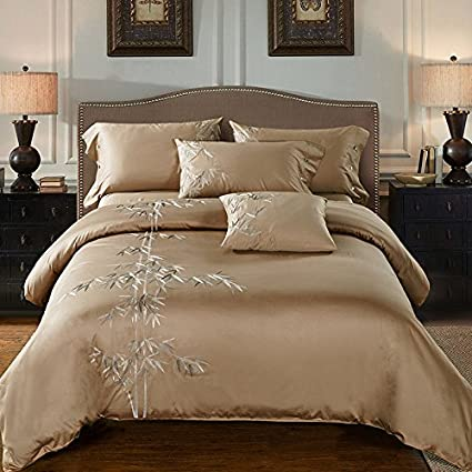 8cbf98e4d372 IvaRose Home Textile Oriental Embroidered Luxury Egyptian Cotton Bedding  sets Queen Silk Soft Feeling King size