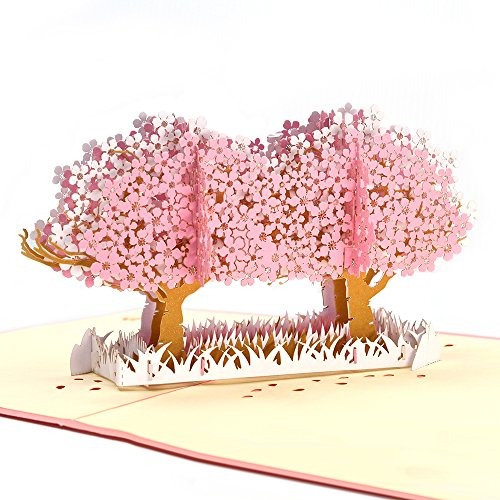 - Pop up Thank You Cards, Breezypals Cherry Blossom Birthday Card, 3D Wedding Thank You Cards Greeting Cards with Envelopes
