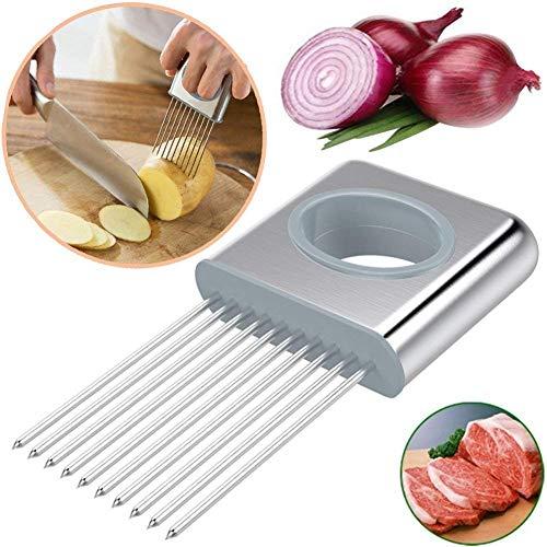 we3 Onion Holder Cutter Slicer Vegetable Tools Tomato Cutter Onion Holder for Slicing,Vegetable Potato Cutter Slicer Odor Eliminator Kitchen Gadgets