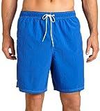 Nautica Men's Anchor Solid Bright Cobalt Swimwear Trunks Shorts
