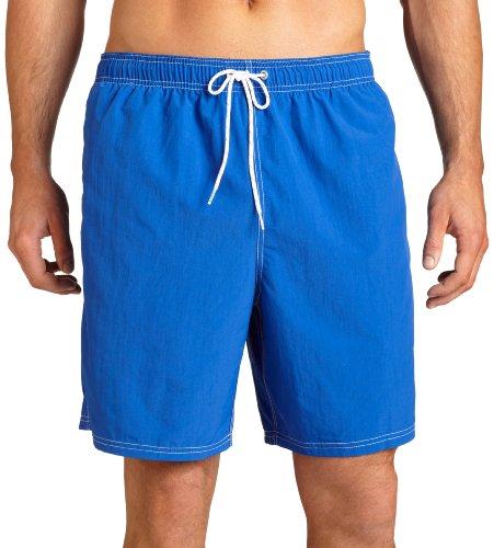 - Nautica Men's Solid Nylon Swim Trunk,Cobalt,Small
