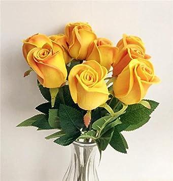 Amazon De Real Touch Rosen Gefalschte Blumen Schwarz Rosa Blau Rot