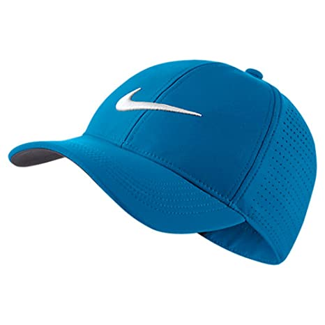 e54c750a 2017 Nike Golf Aerobill Legacy 91 Perforated Hat Mens Adjustable Cap Vivid  Sky BlueNike Golf AEROBILL