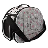 MMdex Portable Soft Sided Pet Carrier,Travel Tote Bag with Shoulder Strap, Cage Crate Kennel for Small Dog / Puppy /Little Cat / Kitten Size 13.38*7.87*7.08 Inch(Gray)