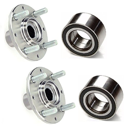 PAIR FRONT Left and Right Wheel Hub & (KOYO) Bearing Fit 1992-2000 HONDA CIVIC (DX Hatchback, DX Coupe, CX, DX Sedan, HX) (1998 Honda Civic Dx Coupe)