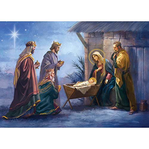 Christmas Scene Nativity Card (Paper Magic Group Manger Nativity Scene Religious, Set of 16, 5