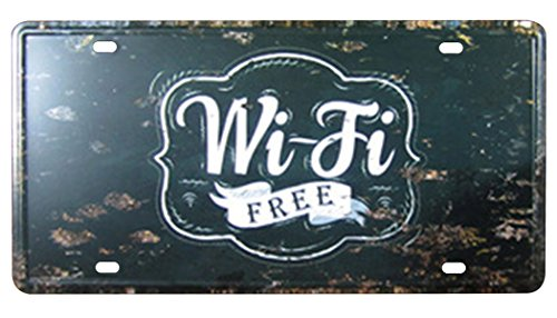 FLY SPRAY Decorative Signs With Saying Wi-Fi Free Tin Metal Iron Sign Painting For Wall Home Office Bar Coffee Shop (Where To Buy Martini Glasses)