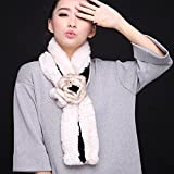 Wuyulunbi@ Autumn and Winter Scarf Knitted Scarf,Black and White