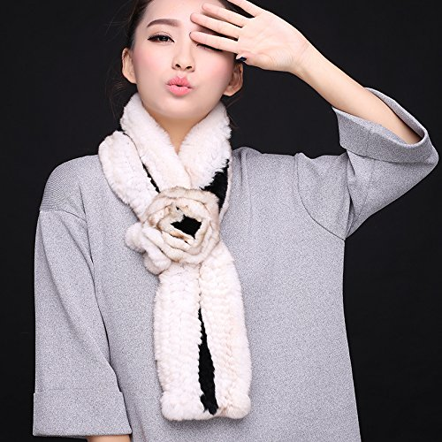 Wuyulunbi@ Autumn and Winter Scarf Knitted Scarf,Black and White by Wuyulunbi@ (Image #1)