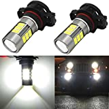 Alla Lighting 54-SMD Newest Version 2504 PSX24W High Power 4014 Chipsets Xtremely Super Bright 6000K Xenon White LED Fog Light Bulb Replacement