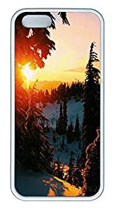 iPhone 5 5S Case landscapes nature snow 3 TPU Custom iPhone 5 5S Case Cover White