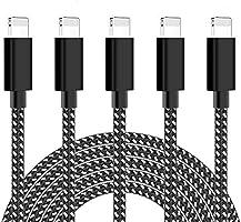 ActionPie iPhone 充電ケーブル 【5本セット 1/1/2/2/3M】ライトニングケーブル 高速データ転送 急速充電 USB同期&充電 ナイロン編み Lightning ケーブル 高耐久 iPhone XS/XS