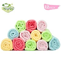 "Maypluss Baby Washcloths/Organic Bamboo Washcloths 12 Pack, 10""x 10"" Use With..."