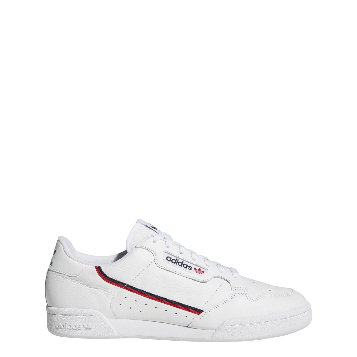 Core White Scarlet Navy Adidas Continental 80 Mens B41672