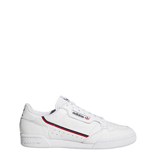 adidas Continental 80 Mens in Cloud White/Scarlet/Collegiate Navy, 10