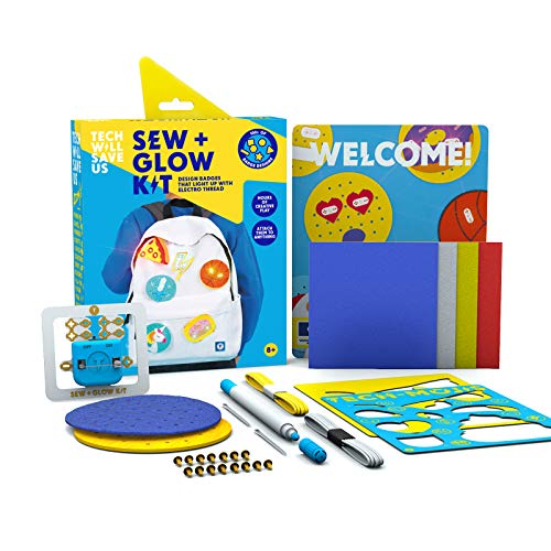 Tech Will Save Us, Sew & Glow Kit, Educational STEM Toy, Ages 8 & Up, Multicolor