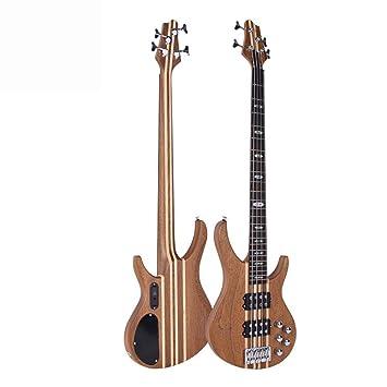 Hjyi Guitarra clásica Guitarra eléctrica de Cuatro Cuerdas Mosaico de Madera Maciza Guitarra Sibiu Maple 24