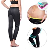 KIWI RATA New Sports Trousers Ankle Long Thermo Pants Neoprene Sweat Sauna Suit Yoga Leggings for Women Ladies Weight Loss Burn Fat