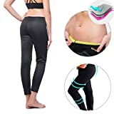 Kiwi-Rata New Sports Trousers Ankle Long Thermo Pants Neoprene Sweat Sauna Suit Yoga Leggings for Women Ladies Weight Loss Burn Fat review