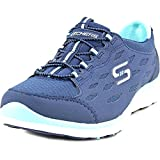 Skechers Women's Gratis Bungee Sneaker,Full Circle/Navy/Green,US 6.5 M