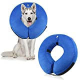 CBoner Protective Inflatable Dog Collar, Soft Pet Recovery E-Collar Cone for Small Medium Large Dogs, Designed to Prevent Pets From Touching Stitches, Wounds and Rashes, Does Not Block Vision, Small (L)
