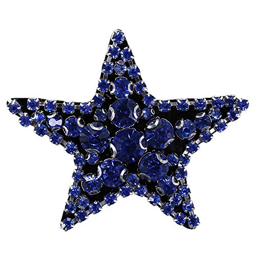Rhinestone Star Beaded Diamond Patch Crystal Badges Brooches for Clothes Shoes Bag Decorated 5pieces