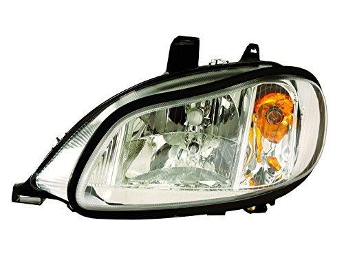 HEADLIGHTSDEPOT Chrome Housing Halogen Headlight Compatible with International International Harvester 4100 4200 4300 4400 8500 TranStar 8600 Includes Left Driver Side Headlamp