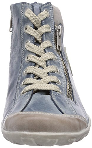 steel Zapatillas Mujer R3474 royal Azul grey Remonte Altas Para xYU5n1q