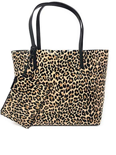 Kate Spade New York Arch Place Mya Leopard Reversible Leather Tote Shopper Bag in Neutralmlt ()