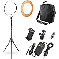 LED Ring Light, Playmont 18 Inch Dimmable Photo Video Lighting Kit with Stand Camera Mount for Cellphone Selfie YouTube Video Shooting