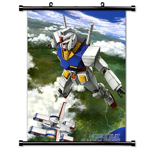 Mobile Suit Gundam Anime Fabric Wall Scroll Poster  Inches.