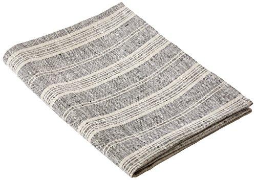 """LinenMe 0076702 Bath Towel, 26"""" x 51"""", Black/Natural"""