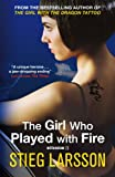 Front cover for the book The Girl Who Played with Fire by Stieg Larsson
