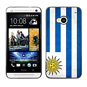 Shell-Star ( National Flag Series-Uruguay ) Snap On Hard Protective Case For HTC One (M7)