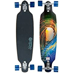 """Rides on 9"""" Gullwing Sidewinder II's with 69mm 78A Sector 9 top shelf wheels with PDP Abec 5 bearings The length of the Fractal is great for those looking for a longer wheelbase for cruising, but still want to do tight turns This board has th..."""