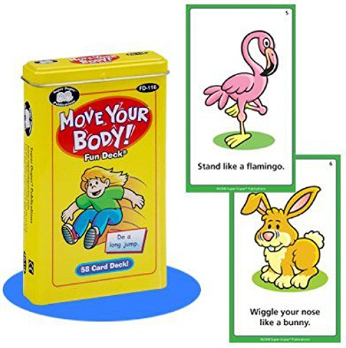 Move Your Body Fun Deck Cards - Super Duper Educational Learning Toy for Kids