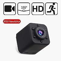 Mini Cámara, Hertekdo 1080P HD Cámara Espía de Seguridad Portátil con Visión Nocturna Detección de Movimiento Grabación en bucle Mini Cámaras para Vigilancia en Interiores o Exteriores, Oficina, Hogar y Automóvil Admite Tarjeta Micro SD de 32 GB