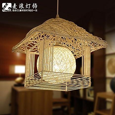 Nest Lámpara hecha a mano jaula de grillos rota bird luces de ...
