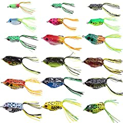 If you want to get some frogs to try out this season, these are your lures! Using these frogs when you have access to heavy cover, such as lily pads, a lot of fallen timber, and heavy aquatic weed growth.  You will be impressed with their flo...
