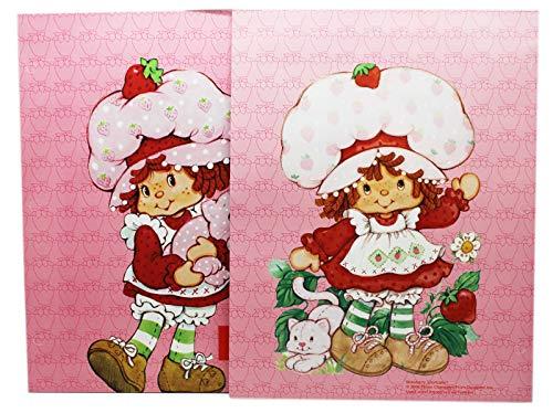 (Strawberry Shortcake Holding Custard Cat Pink Folder Set (2pc))